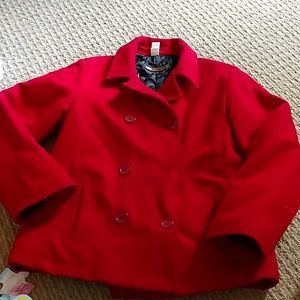 Old Navy Peace Coat Red double breasted